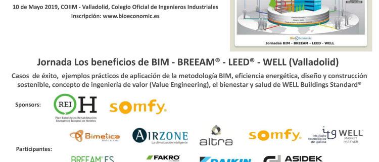 Jornada Los beneficios de BIM - BREEAM - LEED - WELL en Valladolid