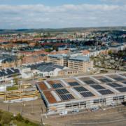1.000 módulos fotovoltaicos SOLARWATT en la estación del tranvía de Dresde