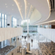 Piedra acrílica HI-MACS en la sala de conciertos Zaryadye de Moscú