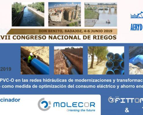 Molecor patrocinadora en el XXXVII Congreso Nacional de Riegos AERyD