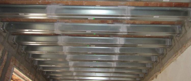 Sistema NOU BAU para la reparación y refuerzo de techos con viguetas de madera