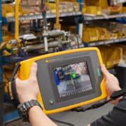 Cámara acústica industrial Fluke ii900 para detectar fugas de aire comprimido, gas y vacío