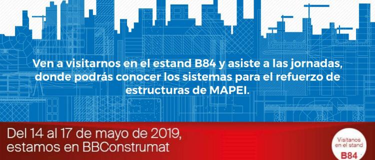 Ponencias de Mapei los días 14 y 15 de mayo, en BBConstrumat 2019