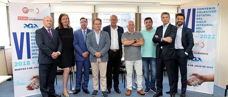 Firmado el VI Convenio Colectivo Estatal del Ciclo Integral del Agua 2018-2022