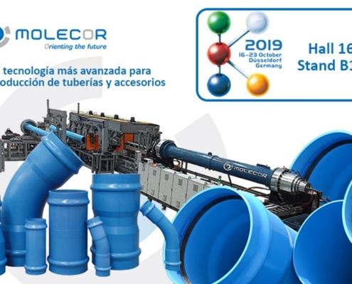 Molecor presenta últimas innovaciones en PVC-O en la K2019