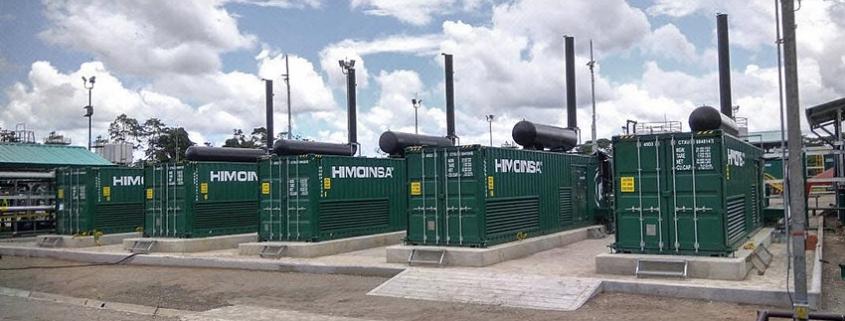 Planta de grupos electrógenos a gas en la Amazonia Ecuatoriana