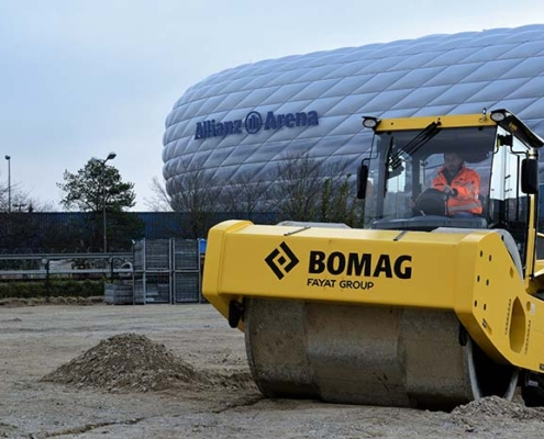 Compactación óptima aparcamiento del estadio muniqués Allianz Arena