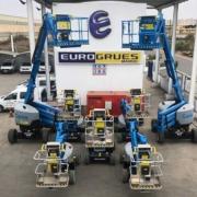 Eurogrues Marruecos consolida su flota Genie en Marruecos