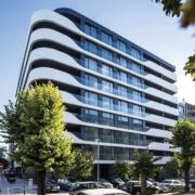 Edificio en Varna destaca por su fachada realizada con Corian Exteriors