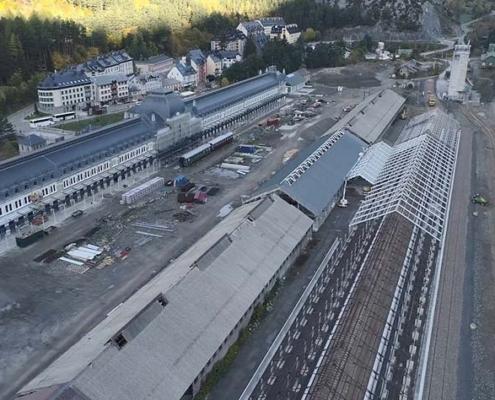 Acciona y Avintia Construcción finalizan nueva playa de vías de Canfranc