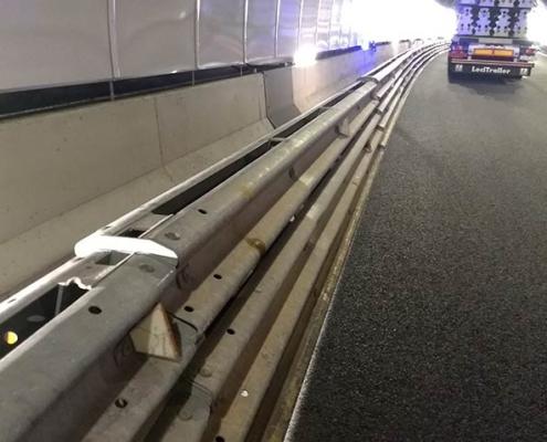 Barreras de seguridad vial metálicas Itsak en túnel de San Lorenzo