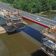 Carro de avance CVS de ULMA en la construcción de Puente Polonia