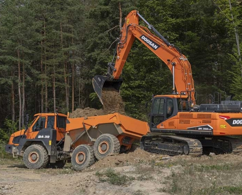 Nueva excavadora DX300LC-7 de Fase V y 30 t de Doosan