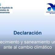 Abastecimiento y saneamiento urbano ante el cambio climático
