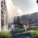 Edificio innovador con fachadas WICONA Hydro CIRCAL 75R