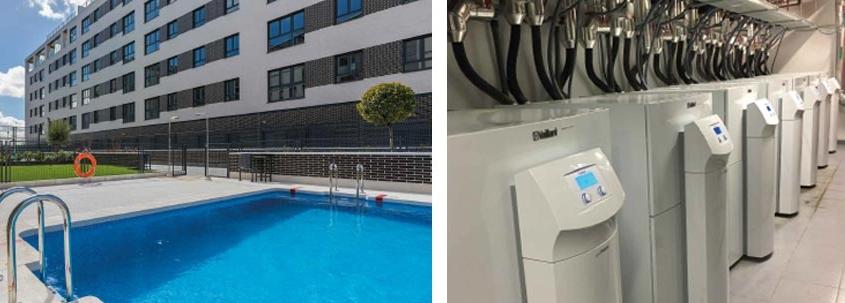 Geotermia centralizada para climatizar 98 viviendas en Madrid