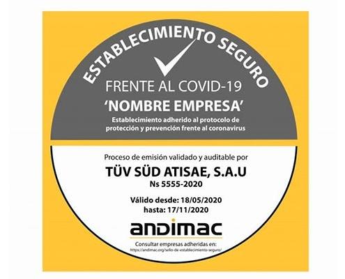 """Andimac crea el sello """"Establecimiento seguro frente a Covid19"""""""