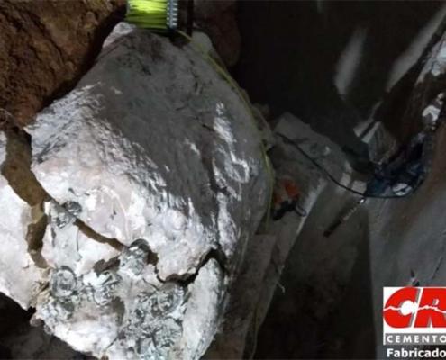 Perforación, primer paso para la demolición con CRAS