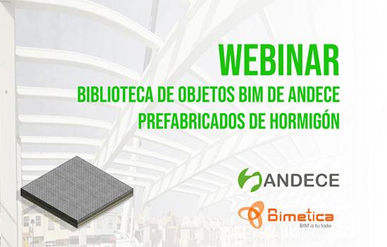 Webinar Biblioteca de objetos BIM de ANDECE