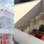 El tejido cerámico FLEXBRICK en el centro cultural MA·AT, Francia