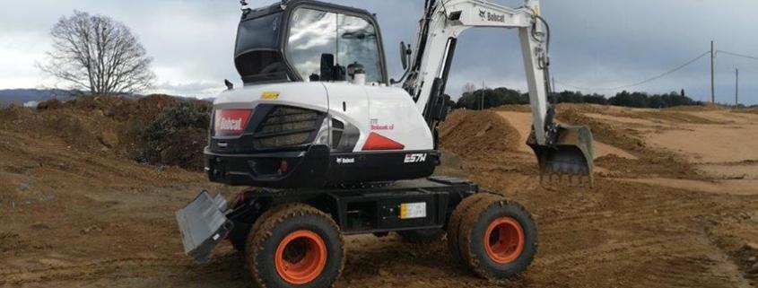 Bobcat E57W, velocidad, estabilidad, visibilidad y potencia