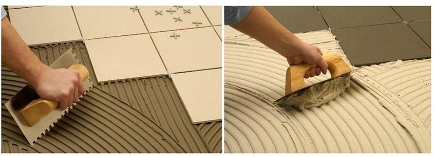 Materiales de agarre para baldosas cerámicas
