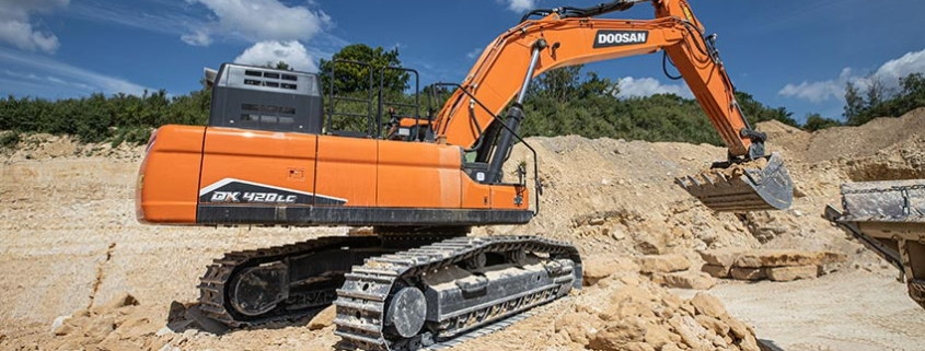 Nueva excavadora Doosan DX420LC-7 Fase V, la mejor de su segmento