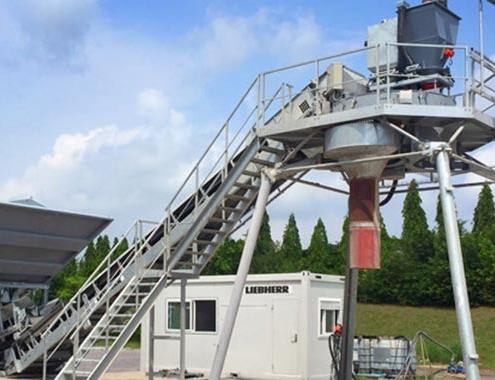 Liebherr lanza con la nueva LCM 1.0 una planta de hormigón más compacta