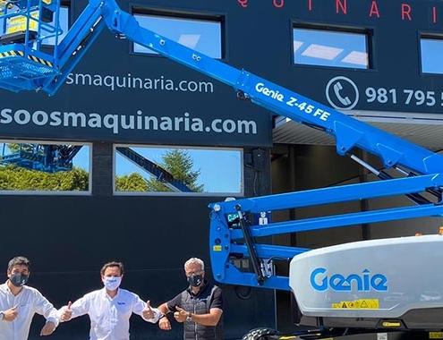 Primera plataforma Genie® Z-45 en España para SOOS Maquinaria
