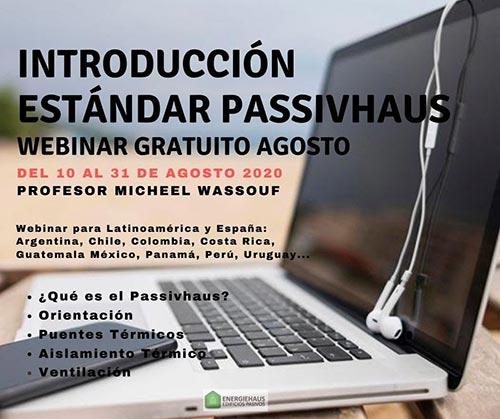 """Webinar """"Introducción al Estándar Passivhaus en climas cálidos"""""""