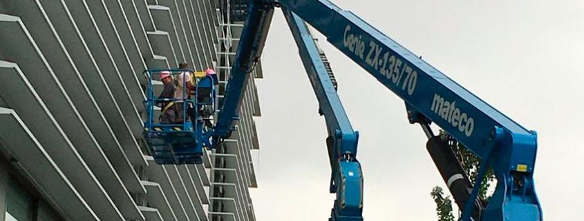 mateco trabaja en la construcción del edificio Celes