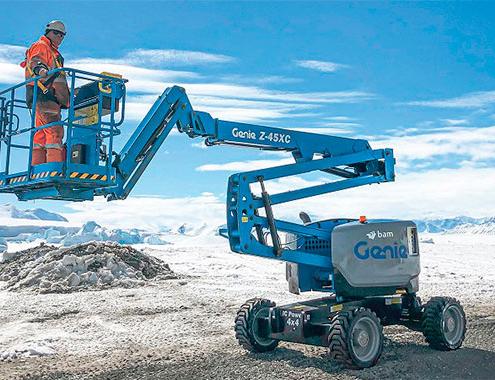 Plataforma Genie® Z-45 XC en dura misión en la Antártida