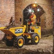 JCB presenta el primer modelo eléctrico de dumper de obra, el 1TE