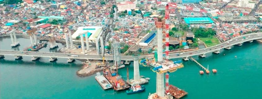 El puente de Cebú, que ACCIONA construye en Filipinas, supera el 50% de avance