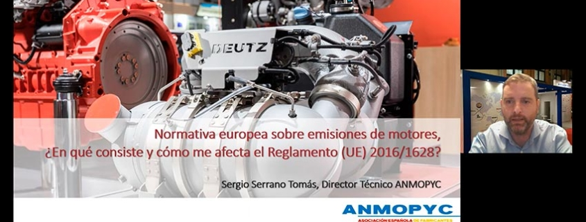 La normativa sobre emisiones de motores protagoniza un webinario organizado por ANMOPYC
