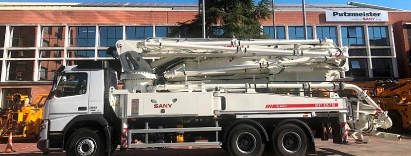 La primera autobomba SANY, llega con Putzmeister a España y Portugal