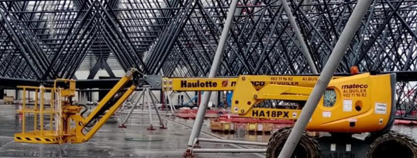 mateco trabaja en la construcción de hangar en el Aeropuerto de Madrid