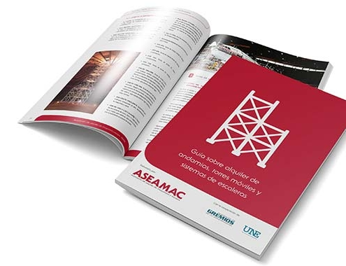 La Guía sobre alquiler de andamios, torres móviles y sistemas de escaleras de ASEAMAC