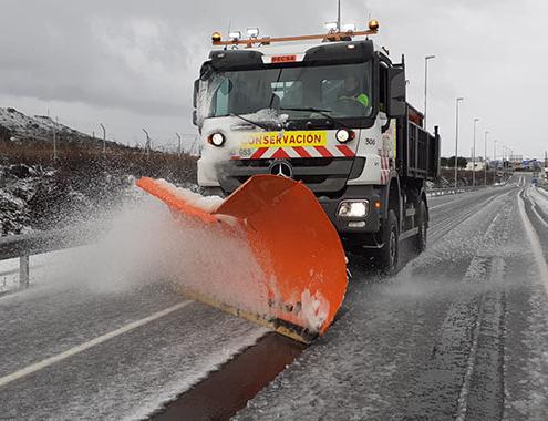 Profesionales de Becsa trabajan para garantizar la vialidad en las nevadas