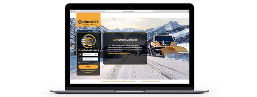 ContiOnlineContact, portal online para distribuidores, con neumáticos OTR y agrícolas