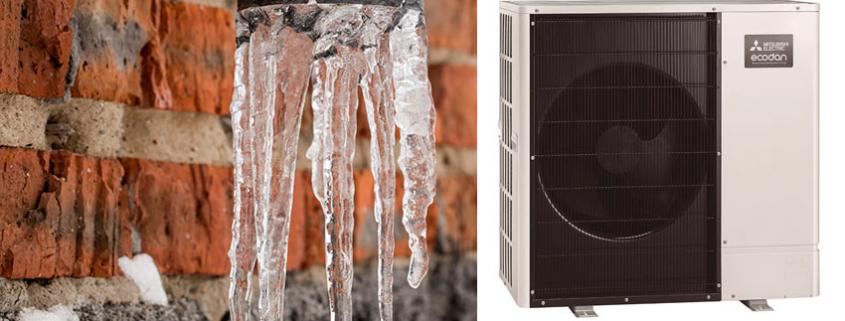 El sistema de Aerotermia ECODAN, solución frente a climas extremos