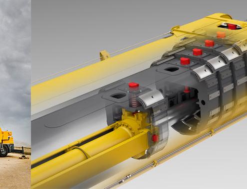 La grúa compacta LTC 1050-3.1 de Liebherr con un telescopaje rápido por cable