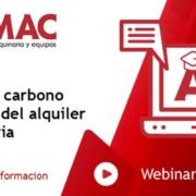 Webinar Huella de carbono en el sector del alquiler de maquinaria