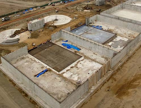 Avanzan las obras de la EDAR Pachacútec en Perú