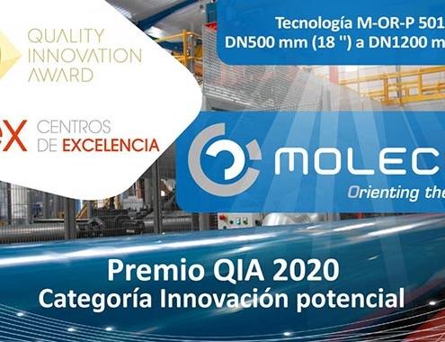 Molecor, galardonada en los Premios QIA 2020