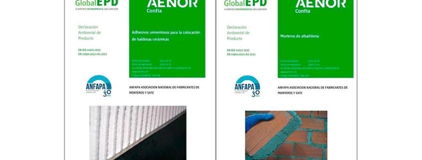 Nuevas DAP de morteros de albañilería y de adhesivos cementosos