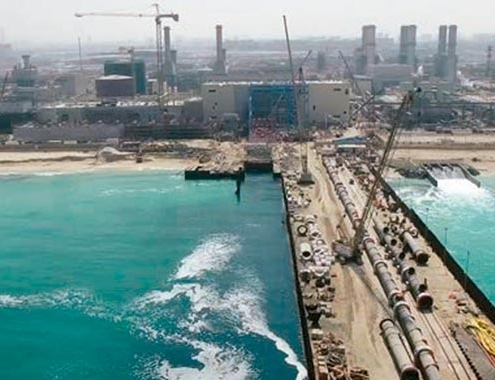 ACCIONA produce agua potable en la desaladora de Jebel Ali
