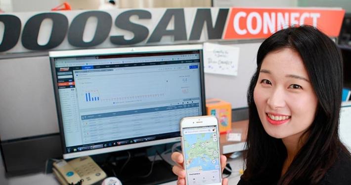 Nueva aplicación móvil para el sistema telemático DoosanCONNECT