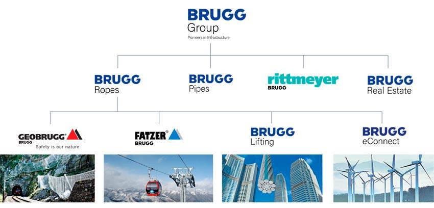 125 años de éxito del Grupo Brugg - Organigrama