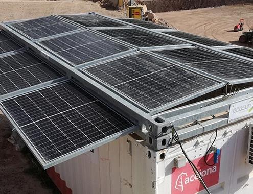 ACCIONA implementa generadores eléctricos fotovoltaicos en las obras de la Autovía A-27
